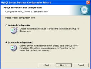 configuration mysql